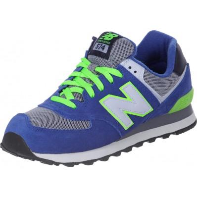 new balance 574 azul e verde