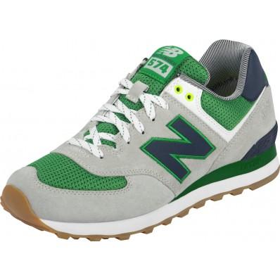 new balance 574 grigio verde