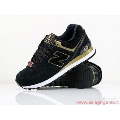 new balance 574 nere e oro