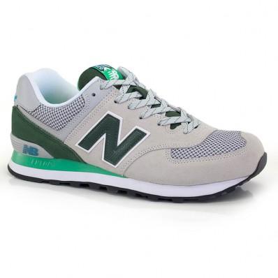new balance cinza verde