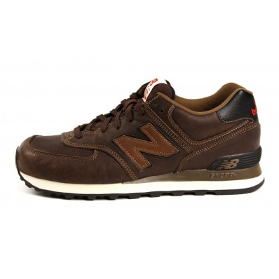 scarpe new balance 574 in pelle