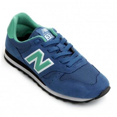 tenis new balance azul e verde