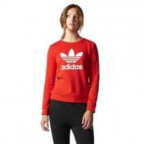 bluza adidas damska przez głowę czerwona