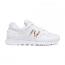 sneakers donna new balance 574 bianca